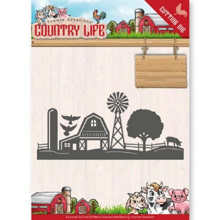 YCD10125 L ~ Farm Border ~ Country Life ~ Yvonne Creations
